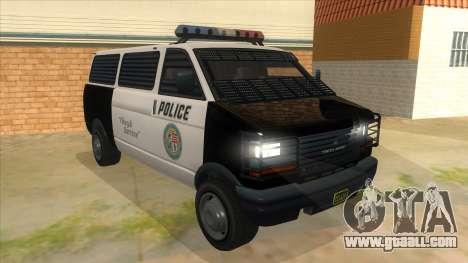 GTA 5 Burrito Transport for GTA San Andreas back view