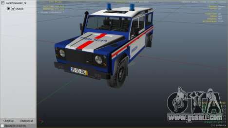 GTA 5 Land Rover Defender right side view