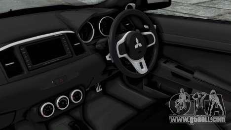 Mitsubishi Lancer Evolution X GSR Full Tunable for GTA San Andreas right view