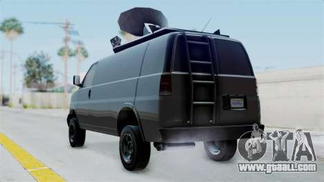 Vapid Speedo Newsvan for GTA San Andreas left view