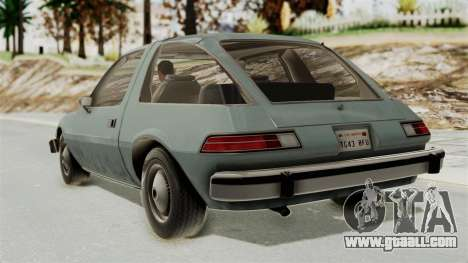 AMC Pacer 1978 IVF for GTA San Andreas left view