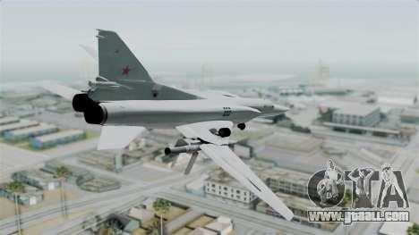TU-22M3 Green for GTA San Andreas left view