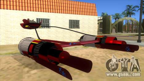 StarWars Anakin Podracer for GTA San Andreas back view
