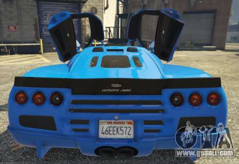 GTA 5 SSC Ultimate Aero [Replace] 1.0 rear left side view