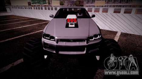 Nissan Skyline R34 Monster Truck for GTA San Andreas engine