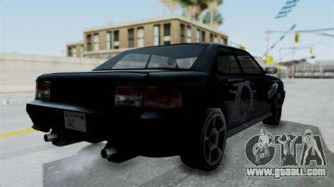 Sultan Винил Battle Machine из NFS ProStreet for GTA San Andreas back left view