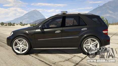 GTA 5 2009 Mercedes-Benz ML63 AMG FBI left side view