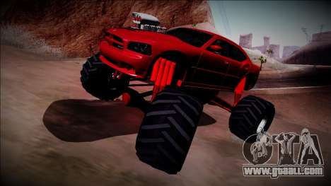 2006 Dodge Charger SRT8 Monster Truck for GTA San Andreas inner view