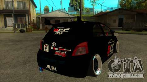 Toyota Yaris (Vitz) [Black Car Community] for GTA San Andreas right view