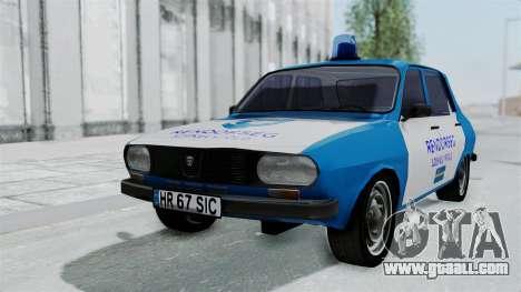 Dacia 1300 Police for GTA San Andreas back view