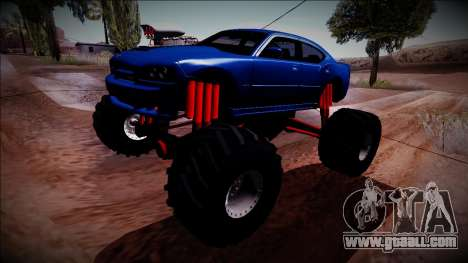 2006 Dodge Charger SRT8 Monster Truck for GTA San Andreas back view