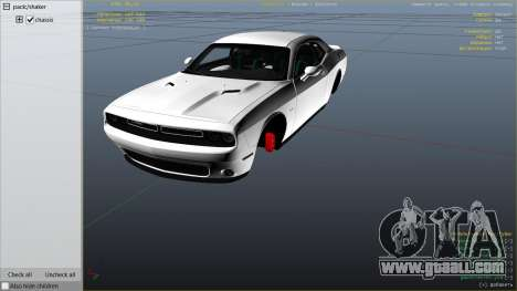 GTA 5 2015 Dodge Challenger right side view