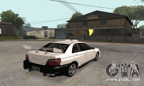 Subaru Impreza WRX STi Tunable for GTA San Andreas inner view