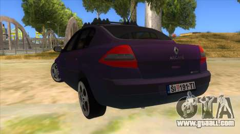 Renault MEGANE 2 for GTA San Andreas back left view