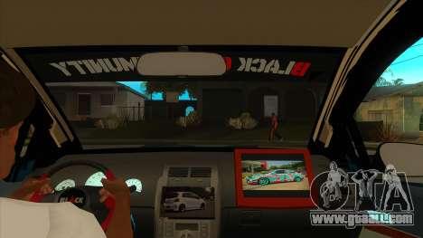Toyota Yaris (Vitz) [Black Car Community] for GTA San Andreas inner view