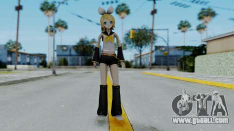 Project Diva F2 - Kagamine Rin (Costume 1) for GTA San Andreas second screenshot