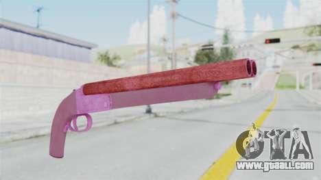 Double Barrel Shotgun Pink Tint (Lowriders CC) for GTA San Andreas second screenshot