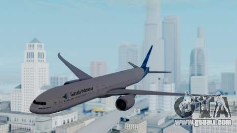 Boeing 777-9U3(X) Garuda Indonesia for GTA San Andreas back left view