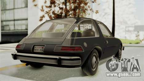 AMC Pacer 1978 for GTA San Andreas left view