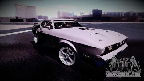 1971 Ford Mustang Drag for GTA San Andreas back left view