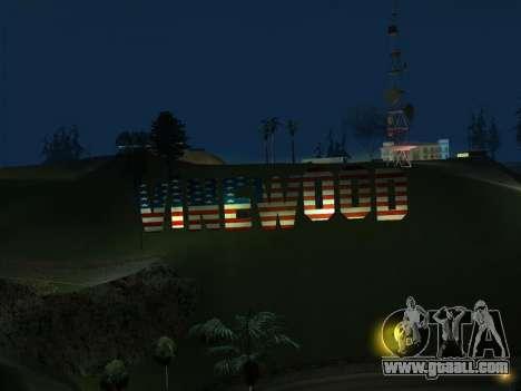 New Vinewood colors USA flag for GTA San Andreas third screenshot