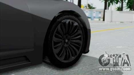 GTA 5 Truffade Adder v2 SA Lights for GTA San Andreas back left view