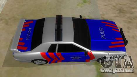 Elegy NR32 Police Edition White Highway for GTA San Andreas inner view