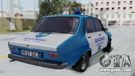 Dacia 1300 Police for GTA San Andreas left view