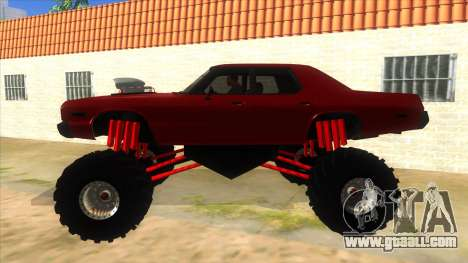 1974 Dodge Monaco Monster Truck for GTA San Andreas left view