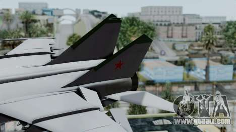 MIG-25 Foxbat for GTA San Andreas back left view