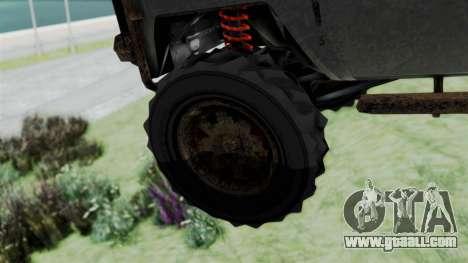 GTA 5 Karin Rebel 4x4 Worn for GTA San Andreas back left view