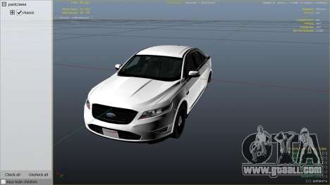 GTA 5 Ford Taurus right side view