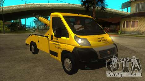 Fiat Ducato Road Asisstance for GTA San Andreas back view