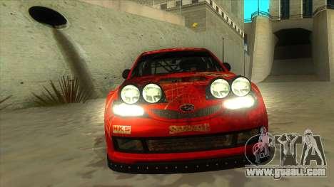 Subaru Impreza WRX STi 2011 ,,Response,, for GTA San Andreas inner view