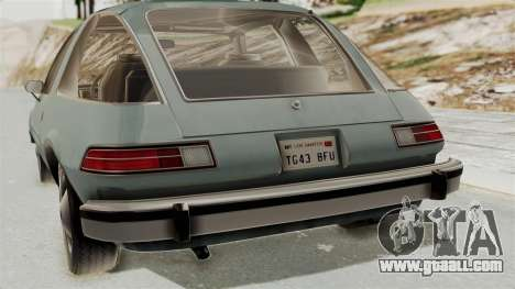 AMC Pacer 1978 IVF for GTA San Andreas back view