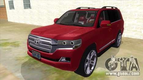 2016 Toyota Land Cruiser 200 V2 for GTA San Andreas