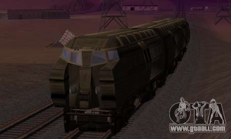 Batman Begins Monorail Train v1 for GTA San Andreas bottom view