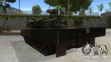 MBT52 Kuma for GTA San Andreas back left view
