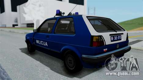 Volkswagen Golf Mk2 Milicija for GTA San Andreas left view