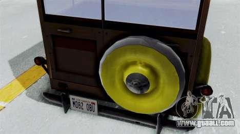 Ford V-8 De Luxe Station Wagon 1937 Mafia2 v2 for GTA San Andreas back view