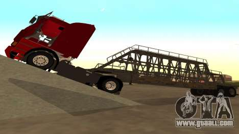 The trailer panels for GTA San Andreas back left view