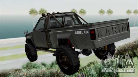 GTA 5 Karin Rebel 4x4 Worn for GTA San Andreas left view