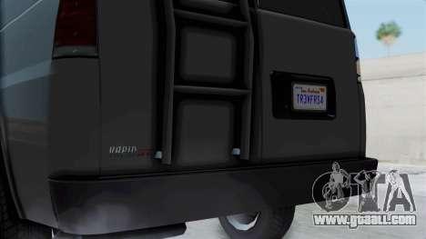 Vapid Speedo Newsvan for GTA San Andreas back left view
