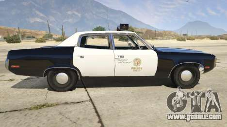 GTA 5 1972 AMC Matador LAPD left side view