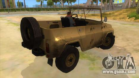 UAZ-469 Desert for GTA San Andreas right view