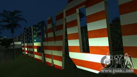 New Vinewood colors USA flag for GTA San Andreas