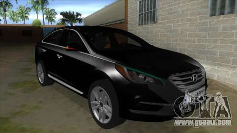 Iranian Hyundai Sonata Turbo for GTA San Andreas back view