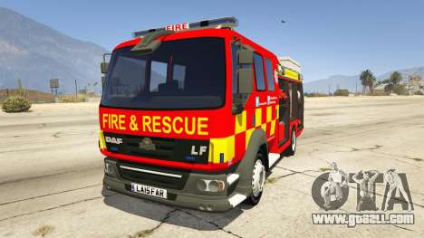 DAF Lancashire Fire & Rescue Fire Appliance for GTA 5