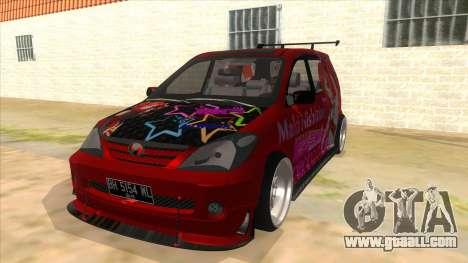 Toyota Avanza R9 Exhaust Nishikino Maki Itasha for GTA San Andreas