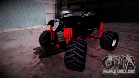GTA 5 Hotknife Monster Truck for GTA San Andreas upper view